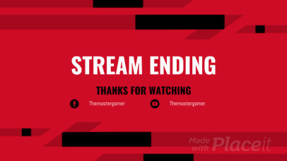 Twitch End Screen Video Generator Featuring Simple Sliding Animations 759