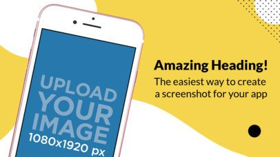 iPhone 7 Pink Diagonal Portrait Position App Store Screenshot Maker Wide 1353