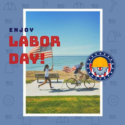 Instagram Post Maker Inviting to Enjoy Labor Day 2777g