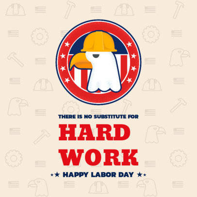 Patriotic Instagram Post Generator with a Quote for Labor Day 2777i