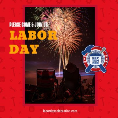Colorful Instagram Post Creator for a Labor Day Celebration 2777d