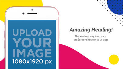 Landscape Image Of Pink iPhone 7 iOS Screenshot Maker 1310