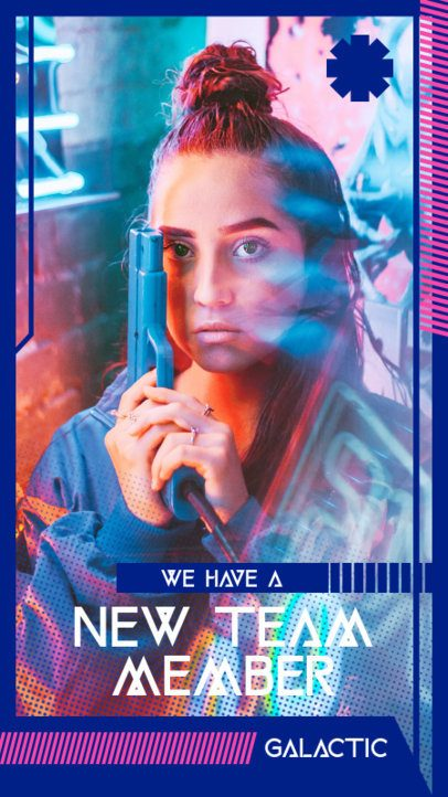Gaming-Themed Instagram Story Maker Featuring Futuristic Graphics 2458-el1