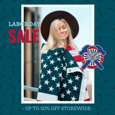 Instagram Post Template for a Store's Labor Day Celebration Discount 2777f
