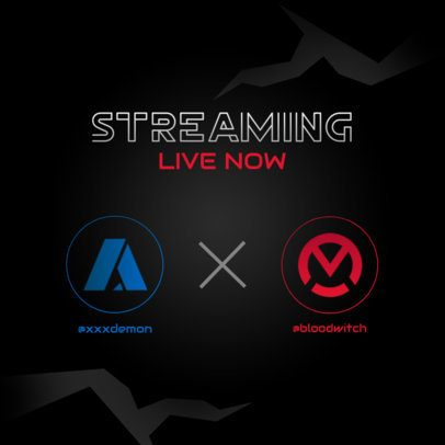 Instagram Post Maker for a Gaming Match Streaming 2452a-el1