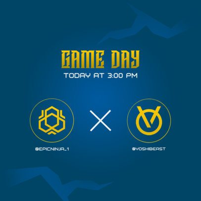 Instagram Post Maker for a Game Day Announcement 2452d-el1