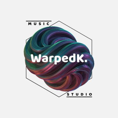 Logo Creator Featuring a Twisted 3D Shape for a Music Studio 2437a-el1