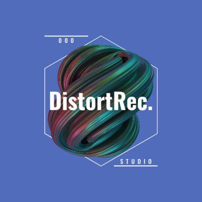 Logo Maker Featuring a Distorted 3D Shape 2437d-el1