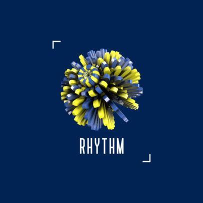 Music Logo Creator Featuring a Tridimensional Circular Graphic 2441c-el1