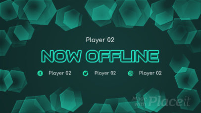 Twitch Offline Screen Video Maker with Floating Hexagons 122
