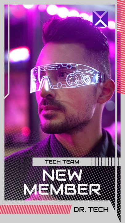 Instagram Story Creator with a Futuristic Design for a Gaming Ad 2458c-el1