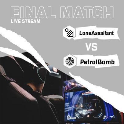 Instagram Post Generator for a Final Gaming Match 2451b-el1