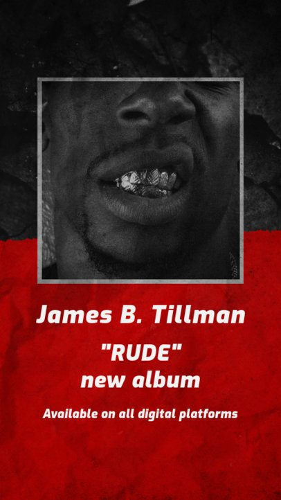 Instagram Story Creator for a Newly Released Rap Album 2775b