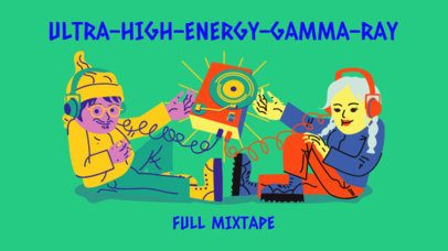YouTube Thumbnail Creator for a Full High Energy Music Mixtape Featuring Illustrated Characters 2773f