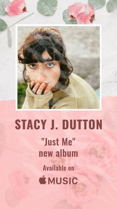 Instagram Story Creator Featuring a New Album Promo 2775a