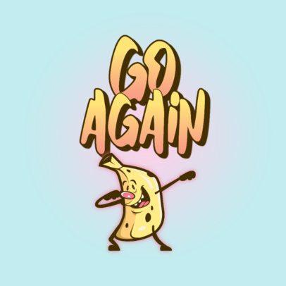 Logo Generator Featuring a Dancing Banana Character 3259j
