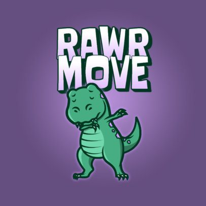 Logo Generator Featuring an Illustration of a Dinosaur Doing a Dab 3529c
