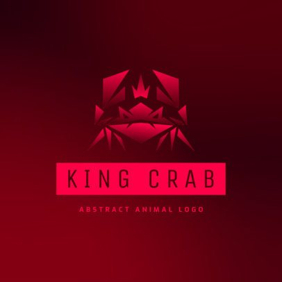 Logo Template Featuring a Gradient Graphic of a Crab 3515g