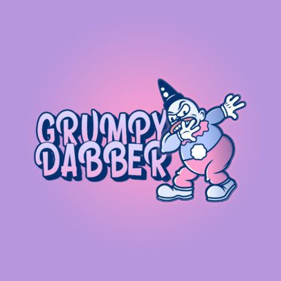 Logo Creator with a Graphic of a Grumpy Dancing Clown 3529k