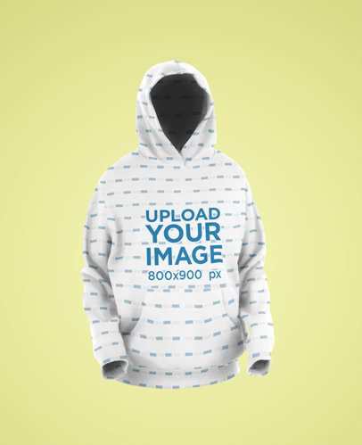 Ghosted Mockup of a Sublimated Hoodie 40012-r-el2