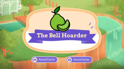 Twitch Banner Video Maker for Animal Crossing Fans Featuring a Fruit Graphic 39