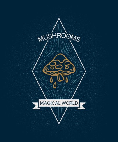 Mystical T-Shirt Design Maker with a Dark Mushroom Graphic 2516e-el1