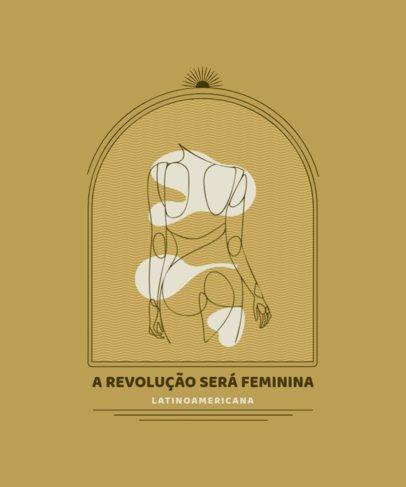 T-Shirt Design Generator with an Elegant Single-Line Drawing of a Latin American Woman 2478b-el1