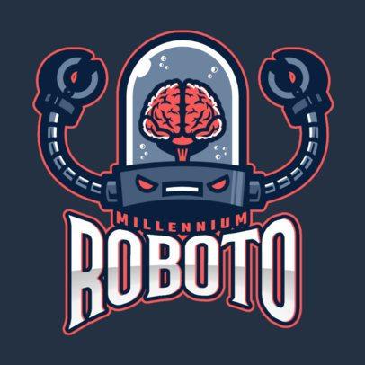 Team Logo Maker Featuring an Evil Robot Mascot 2455mm-2934
