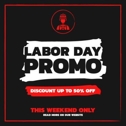 Instagram Post Template for a Store with a Discount for Labor Day 2469e-el1