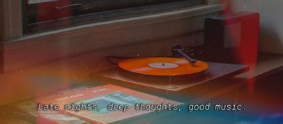 Music-Themed Facebook Cover Maker Featuring a Still Frame With Subtitles 2794k