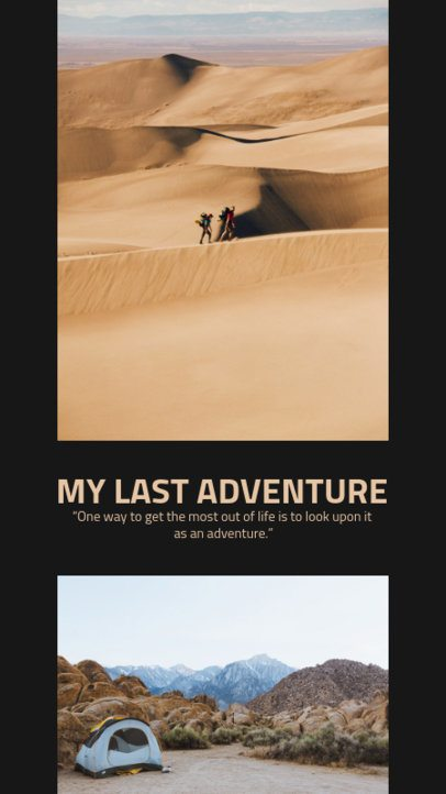 Travel-Themed Instagram Story Maker with a Clean Picture Collage 2485e-el1