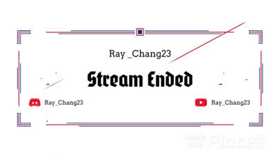 Stream Ended Screen Video Maker Featuring an Animated Frame 765