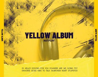 Back Album Cover Template Featuring a Scratch Filter 2790d