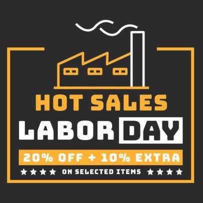 Instagram Post Generator for a Labor Day Hot Sale 2467b-el1