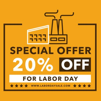 Instagram Post Creator for a Labor Day Special Offer 2467d-el1