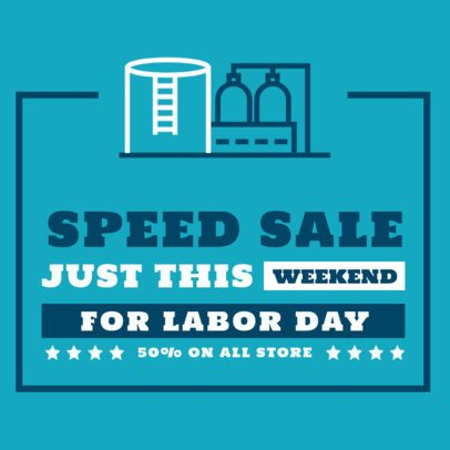 Instagram Post Maker to Announce a Labor Day Speed Sale 2467e-el1