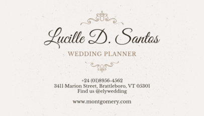 Classy Business Card Maker for Wedding Planners 132c
