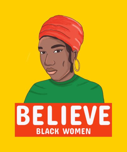 Black Pride-Themed T-Shirt Design Featuring a Black Woman 2799b