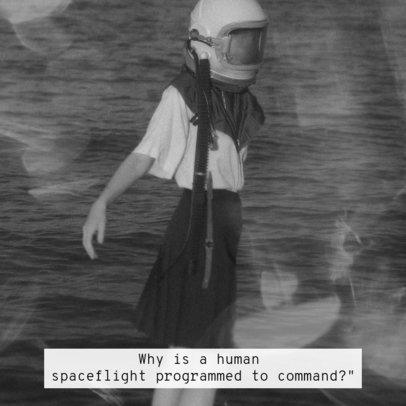 Instagram Post Generator with a Weird Vintage Picture and Subtitles 2793b