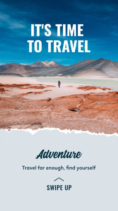 Travel-Themed Instagram Story Template for Outdoor Travel Activities 2483e-el1