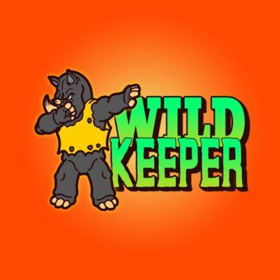 Cool Logo Generator Featuring a Dabbing Rhino 3527h