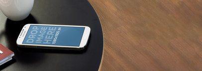 Samsung Galaxy White Portrait Black Coffee Table Wide