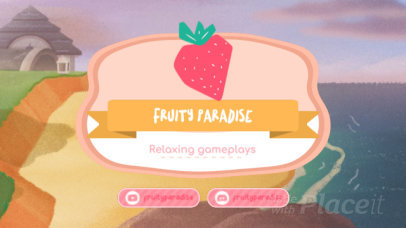 Twitch Banner Video Maker Featuring Animal Crossing-Inspired Motion Graphics 92