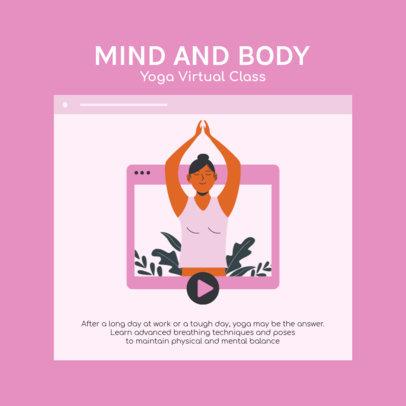 Instagram Post Creator with a Virtual Yoga Class Graphic 2585e-el1