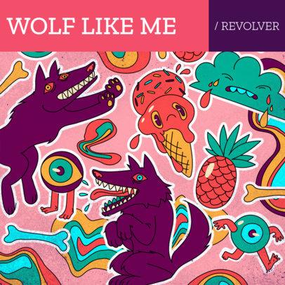 Album Cover Maker Featuring Bizarre Character Illustrations 2814f