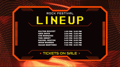 Twitch Banner Template for an Online Rock Festival's Schedule 2812e