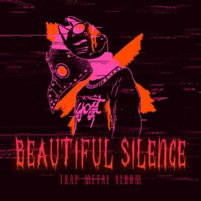 Trap Metal Album Cover Design Maker of a Horror-Themed Graphic 2818e