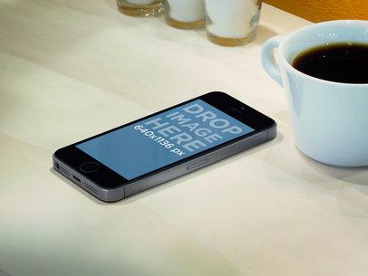 iPhone 5s Dark Portrait On Counterbar