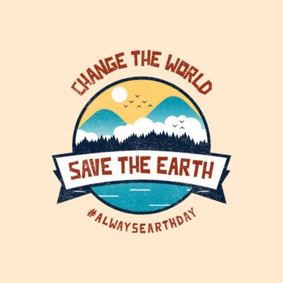Environmental Organization Logo Maker Featuring a Save the Earth Day Graphic 3575c