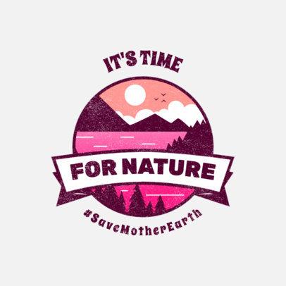 Logo Template Featuring a Nature Landscape Emblem for an Environmental Cause 3575e